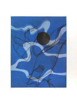 Original signed etching de  : Sérénade bleue
