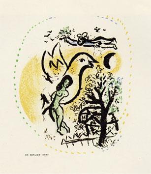 Chagall Marc : Lithographie d'interprétation : Vocation