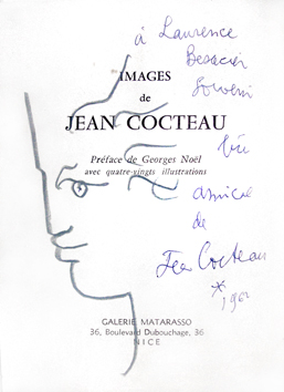 Cocteau Jean : Dessin original : Orphée dédicace