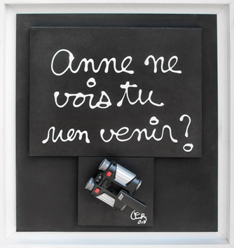 Signed single work de Ben (B. Vautier) : Anne ne vois tu rien venir ?