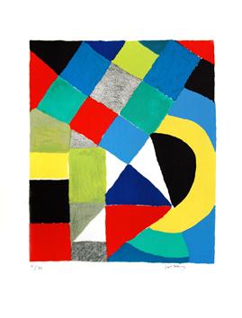 Delaunay Sonia : Litografia original firmada : Arlequin