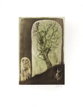 Original signed etching de  : The stalkers
