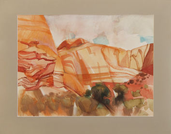Original signed watercolour de Cayol Pierre : Arizona