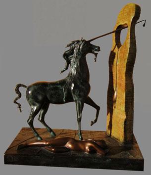 Dali Salvador : Bronze original : La Licorne
