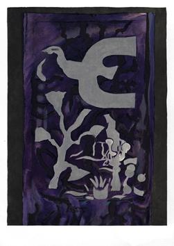 Braque Georges : Lithographie originale : Derniers Messages