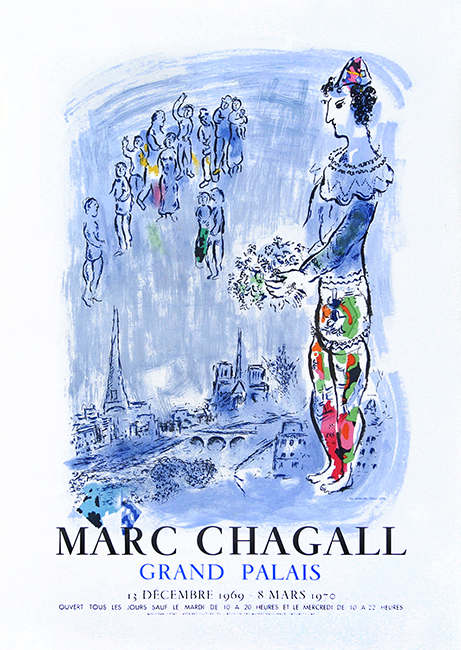 Poster de Chagall Marc : The magician of Paris