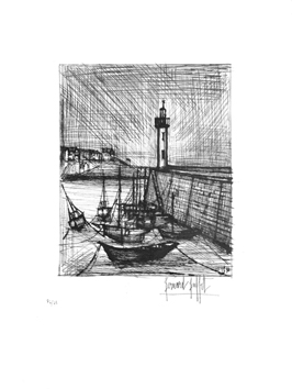 Signed etching de  : The lighthouse