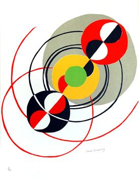 Delaunay Sonia : Litografia original firmada : Diagonal