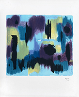 Original signed lithograph de Bazaine Jean : Abstract composition II