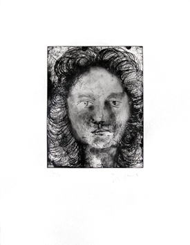 Original signed etching de Dine Jim : Mabel, Plate VIII