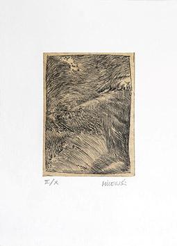 Gravure originale signée de  : La mer II