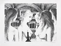 Lithographie originale signée de  : La voûte