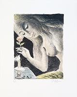 Lithographie originale signée de  : La Sirène III