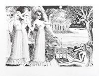 Lithographie originale signée de  : Le bout du monde