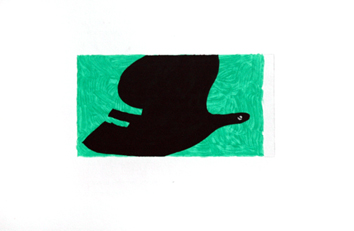 Braque Georges : Gravure eau-forte originale : Oiseau