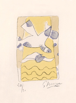 Braque Georges : Lithographie originale sign�e : Oiseaux I