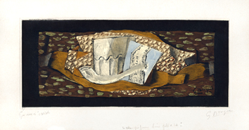 Braque Georges : Gravure sign�e : Nature morte � la pipe