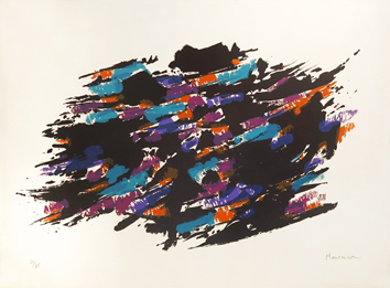 Original signed lithograph de  : Composition II