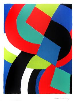 Delaunay Sonia : Litografia firmada : Valet de carreau