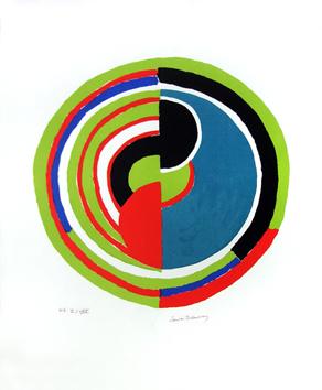 Delaunay Sonia : Litografia original firmada : Se�al