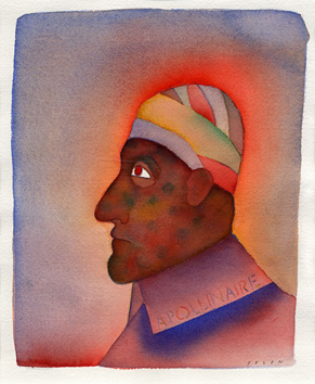 Signed watercolour de  : Apollinaire