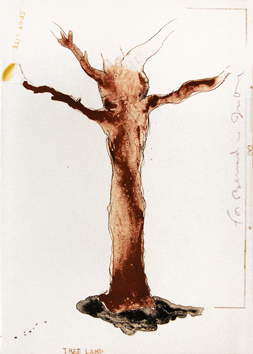 Original signed lithograph de Dine Jim : Tree