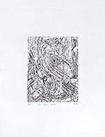 Original signed woodcut de  : Les trous noirs