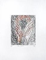 Original signed wood de  : Paire d'ailes