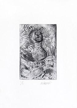 Gravure originale signée de  : La sirène