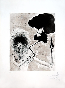 Original signed etching de  : Zeus