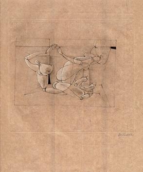 Bellmer Hans : Signed engraving : Les Marionnettes IV