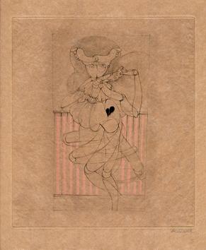 Bellmer Hans : Signed engraving : Les Marionnettes IX