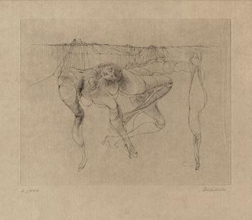 Bellmer Hans : Signed drypoint : Dancers