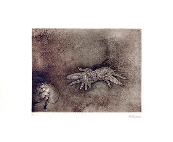 Bellmer Hans : Signed print : Eye-hands