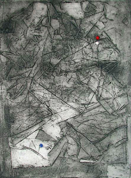 Signed etching de  : Composition III