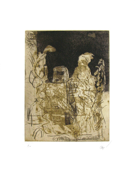 Signed etching de  : After Rembrandt IV