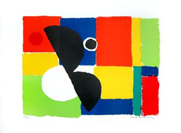 Delaunay Sonia : Litografia original firmada : Eclypse
