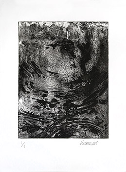 Original signed etching de  : Mouvement II