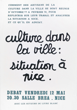 Screenprint poster de  : Culture dans la ville : situation à Nice