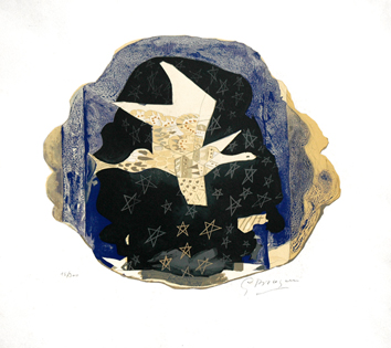 Lithograph signed de Braque Georges : Stars