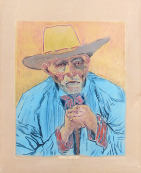 Aquatint de  : The Farmer after Van Gogh
