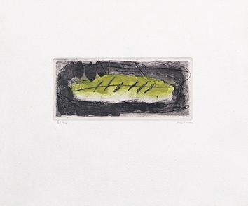 Gravure originale signée de  : Fougères