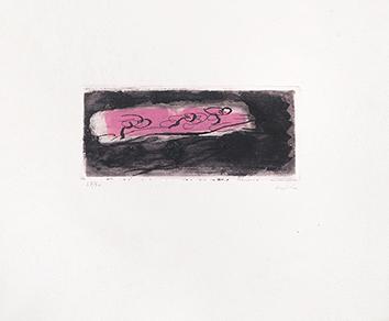 Gravure originale signée de  : Petit paysage sombre