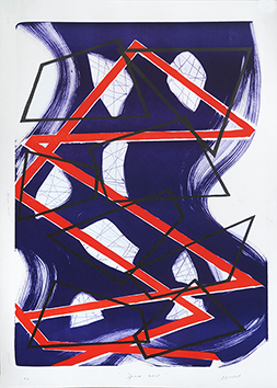 Lithographie originale signée de  : Space