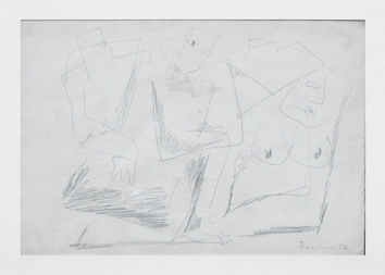 Original signed drawing de  : Three characters 1932