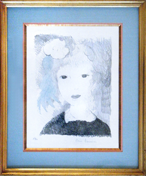 Original signed lithograph de  : Petite fille à la rose