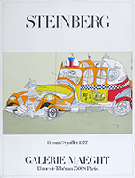 Lithograph poster de Steinberg Saul : Exhibition Maeght
