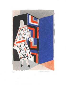 Delaunay Sonia : Litografía original : Robe-Poeme