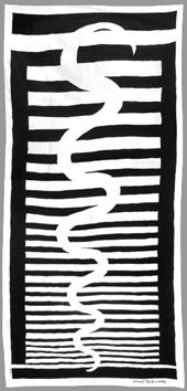 Delaunay Sonia : Múltiplo : Serpiente negra