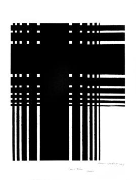 Delaunay Sonia : Litograf�a original firmada : Blanco y negro II